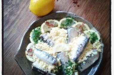 Sardines au citron en éventail