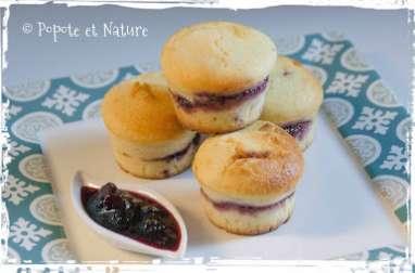 Petits muffins moelleux à la confiture et à la farine de maïs
