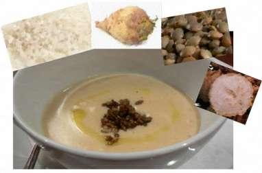 Soupe au riz, lentilles, navets, rutabaga et céleri