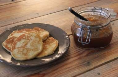 Pancakes et confiture pomme cannelle maison