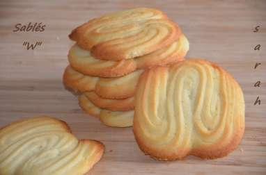 "biscuits sablés ""W"",biscuits faciles"