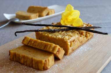 Fondant à la patate douce et à la vanille