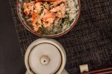 Ochazuke de saumon