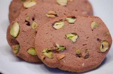 Sablés au chocolat et à la pistache