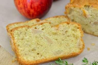 Cake aux pommes, huile d'olive et thym