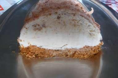 Bûche glacée pomme carambar et noix sans sorbetière