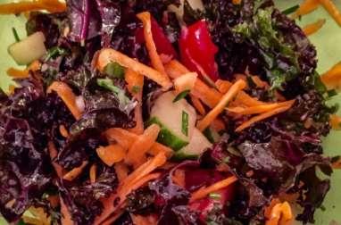 Salade 5 minutes, au kale violet