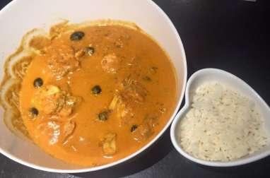 Tajine de lotte au curry et safran de Sandrine