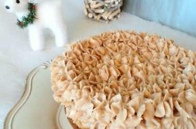 Cheesecake à la crème de marrons et marrons glacés