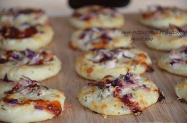 Mini-pizzas au bacon