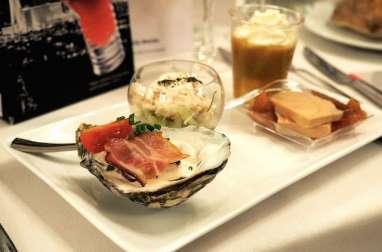 La fameuse huître au poireau du Chef alsacien Patrick Fulgraff