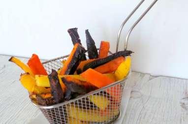Frites de carottes multicolores au cumin (cuiteq au four)