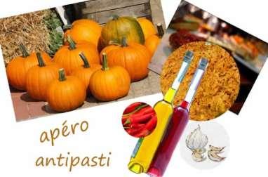 Antipasti à la citrouille, à l'ail, piment et huile d'olive - vegan, sans gluten (Italie)