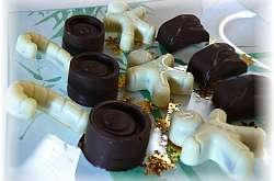 Chocolats fourrés ganache pralinoise