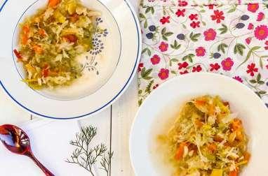 Soupe aux choux et curcuma
