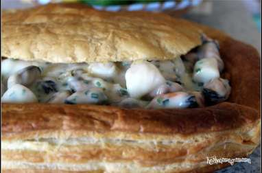 Vol au vent de moules et Saint Jacques