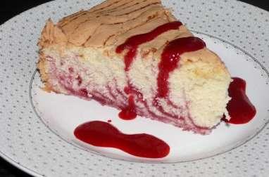 Gâteau de Savoie marbré de framboise