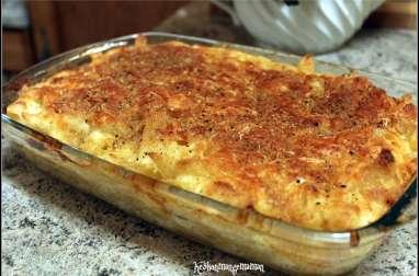 Penne and cheese , gratin de pâtes