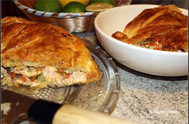 Tourte au saumon et à l'aneth