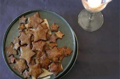 Etoiles de Noël noisettes, cacao