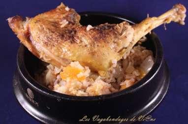 Riz au gras au poulet