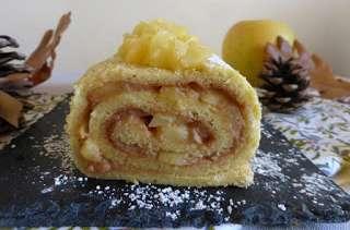 Biscuit roulé aux pommes caramélisées