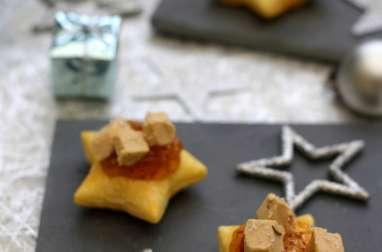 Étoiles feuilletés au foie gras et figue
