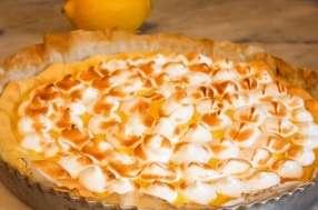 Tarte au citron meringuée légère