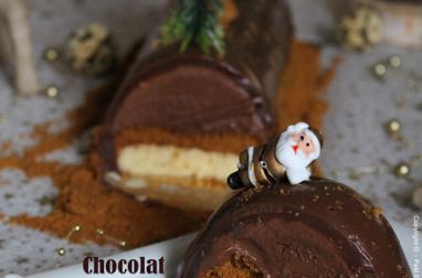 Ma petite Bûche glacée au Chocolat, Vanille Spéculoos