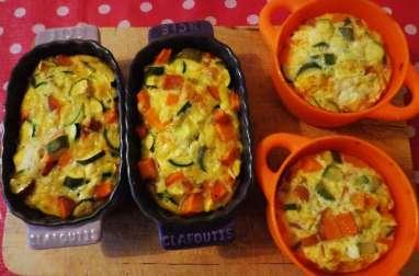 Clafoutis de légumes au fromage de chèvre