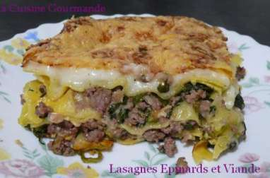 Lasagnes aux épinards et à la viande hâchée