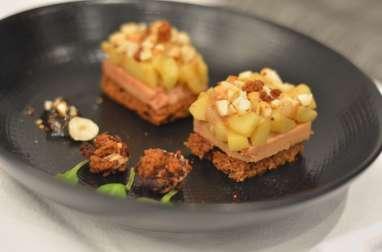 Tatin d'automne minute au foie gras