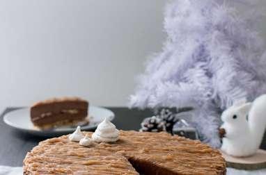 Cheesecake au chocolat, fève tonka, crème de marrons et meringue