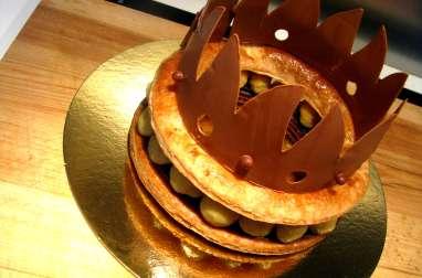 Galette des rois poire chocolat et noix