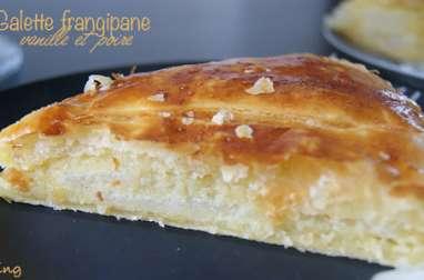 Galette frangipane à la vanille et poire