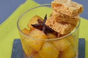 Ananas rôti aux épices et sa brochette de pain d'épices