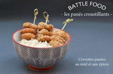 Crevettes panées au miel et aux épices