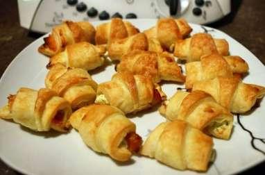 Mini croissants au saumon fumé et au tartare au thermomix facile et rapide