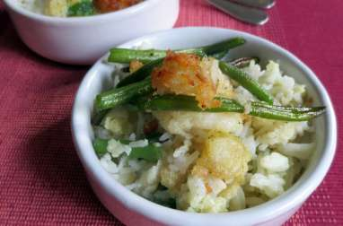 Curry de Poisson & Haricots Verts Frits