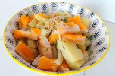 Salade de pommes de terre au haddock fumé façon nordique