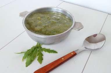 Soupe roquette et pommes de terre