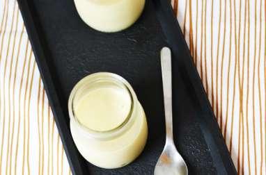 Mousse chocolat blanc, coco et citron vert