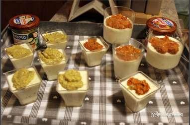 panna cotta au chèvre et aux épices , tartinades bio