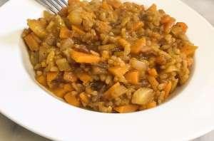 Risotto d'hiver, courge, carotte et navet