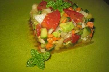 Salade composée de légumes rapide et facile