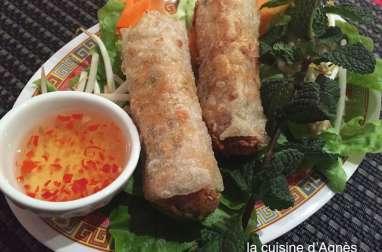 Rouleaux de printemps chinois porc crevettes