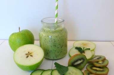 Smoothie kiwi, concombre et pommes Granny Smith