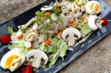 Salade de poisson et surimi sauce aneth et miel