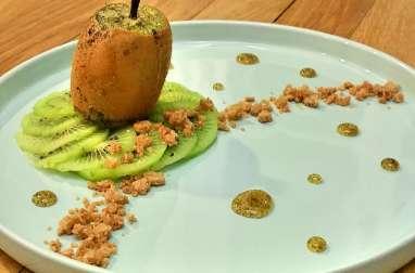 Kiwi rôti au miel vanillé et croustillant de spéculoos