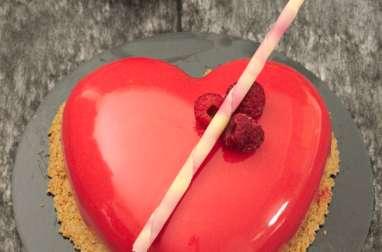 Le cœur rouge vif